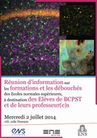 Réunion d'information pour élèves et enseignants de BCPST le 2 juillet