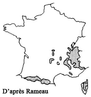 Genévrier nain-Répartition France
