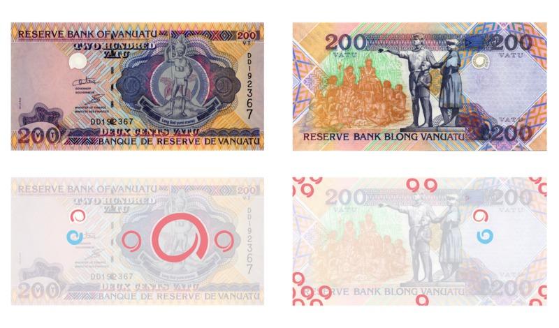 Images d'un billet de 200 Vatu (recto-verso)